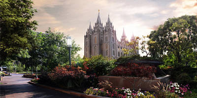 Lds Painting - Salt Lake Temple by Brent Borup