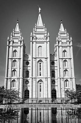 Photograph - Salt Lake Temple by Delphimages Photo Creations