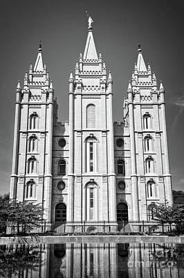 Temple Wall Art - Photograph - Salt Lake Temple by Delphimages Photo Creations