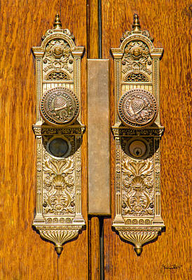 Photograph - Salt Lake Temple Doorknobs by Shanna Hyatt