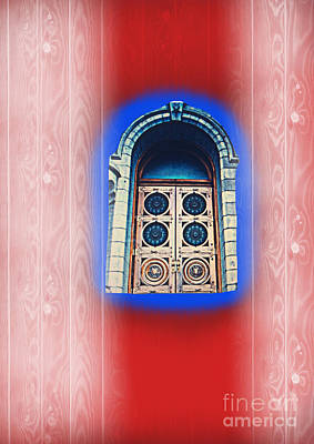 Photograph - Salt Lake Temple Doors 1 by Richard W Linford