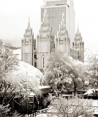 Salt Lake Temple In Snow Original