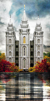 Temple Digital Art - Salt Lake Temple - Tower Of The Lord by Brent Borup