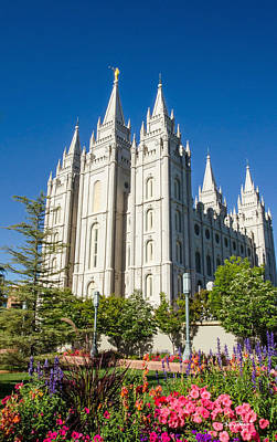 Photograph - Salt Lake Temple With Texture by Shanna Hyatt