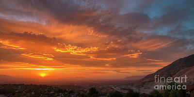 Photograph - Salt Lake Valley Sunset by Spencer Baugh