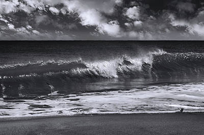 Photograph - Salt Life Morning Bw by Laura Fasulo