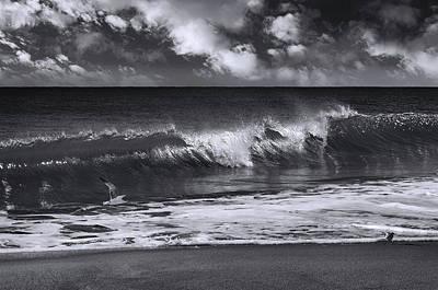Photograph - Salt Life Morning Bw by Laura Fasulo