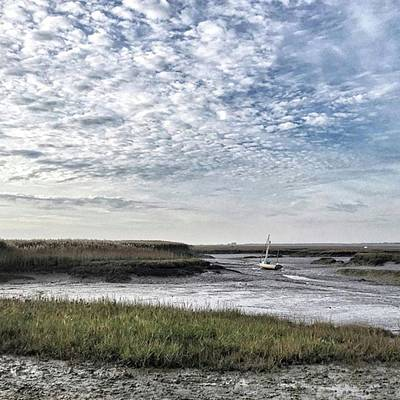 Light Photograph - Salt Marsh And Creek, Brancaster by John Edwards