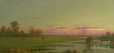 Painting - Salt Marsh At Southport, Connecticut by Martin Johnson Heade