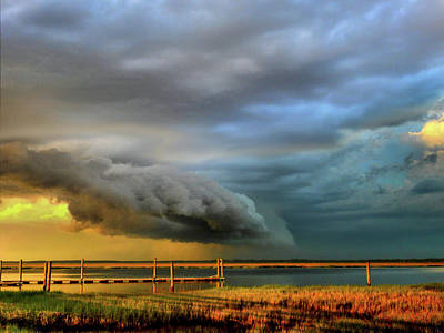 Photograph - Salt Marsh Drama by Laura Ragland