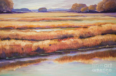 Painting - Salt Marsh In Autumn  by Sally Simon