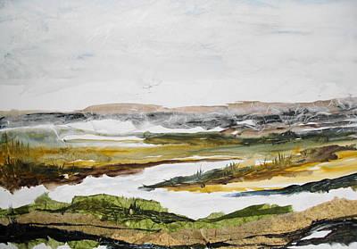 Linda King Painting - Salt Marsh by Linda King