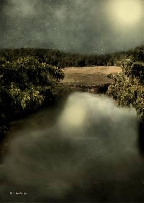 Connecticut Landscape Digital Art - Salt Marsh Shimmer by RC deWinter