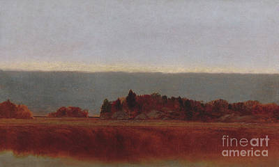 Fine Art In America Painting - Salt Meadow In October, 1872 by John Frederick Kensett