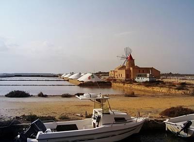 Salt Mill In Sicily. Italy Original by Yuri Hope