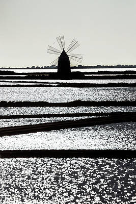 Erice Photograph - Salt Mill by Joana Kruse