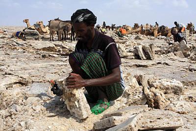 Salt Miner, Danakil Depression, Ethiopia Art Print