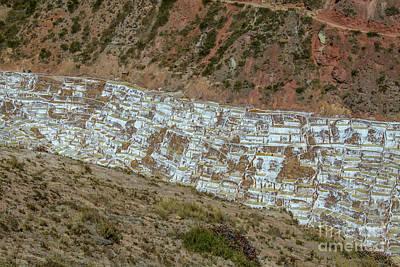 Photograph - Salt Mines In Peru by Patricia Hofmeester