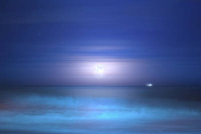Photograph - Salt Moon by Mark Andrew Thomas