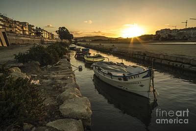 Maltese Photograph - Salt Pan Boats  by Rob Hawkins