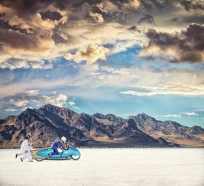 Salt Photograph - Salt Push by Keith Berr