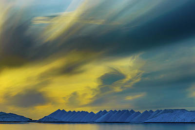Photograph - Salt Pyramids Stormy Sunsrise by Mark Robert Rogers