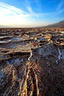 Death Valley Photograph - Salt Ridges by David Andersen