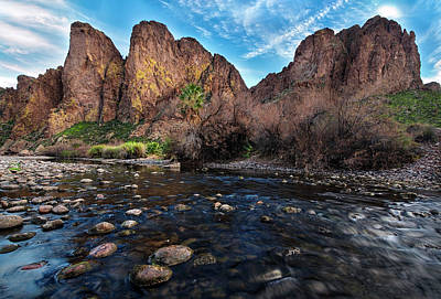 Photograph - Salt River And The Goldfield Mountains by Dave Dilli