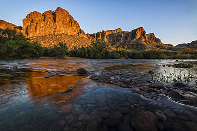 Phoenix Photograph - Salt River Cascades 1 by Dave Dilli