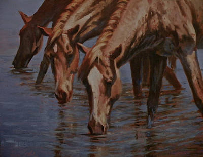 Art Of Mia Delode Painting - Salt River Redheads by Mia DeLode