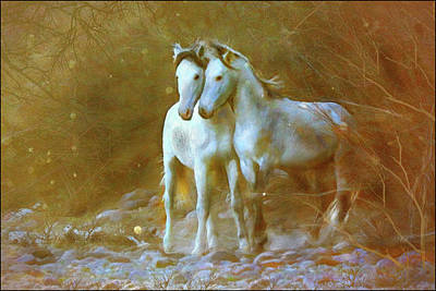 Digital Art - Salt River Stallions by Posey Clements