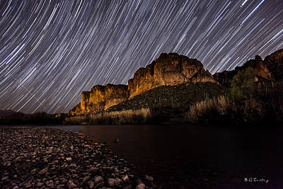 Startrails Photograph - Salt River Star Trails by Bill Cantey