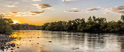 Salt River Sunset Panoramic Art Print