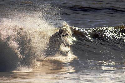 Photograph - Salt Spray Surfing by Clayton Bruster