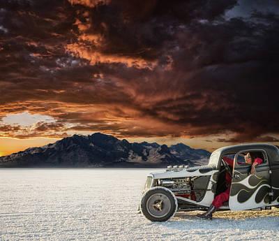 Salt Photograph - Salt Sunset by Keith Berr
