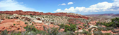 Photograph - Salt Valley Arches National Park Panorama by Mary Bedy