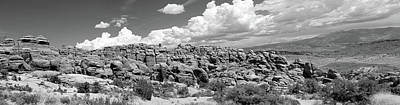 Photograph - Salt Valley Panorama With La Sal Mountains Bw by Mary Bedy