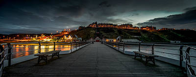 Landscapes Royalty-Free and Rights-Managed Images - Saltburn Pier at Dusk by Dave Hudspeth