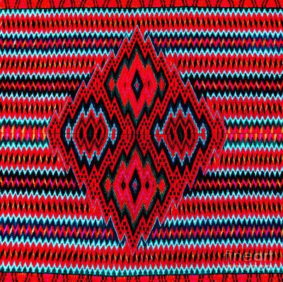 Digital Art - Saltillo Chevron Tapestry by Peter Gumaer Ogden