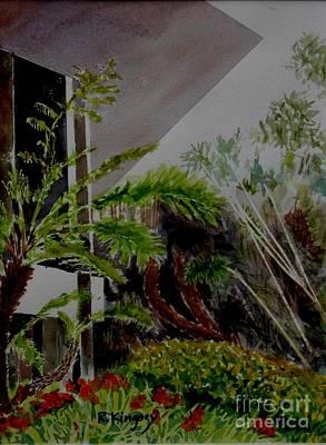 Bamboo Farm Painting - Saltman House And Garden II by Ralph Kingery