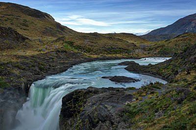 Photograph - Salto Grande Waterfall #2 - Patagonia by Stuart Litoff