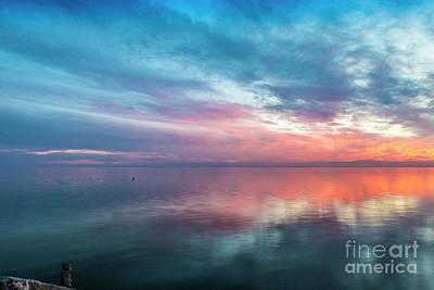 Photograph - Salton Sea Sunset Sky by David Zanzinger