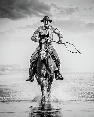 Photograph - Saltwater Cowboy by Fast Horse Photography