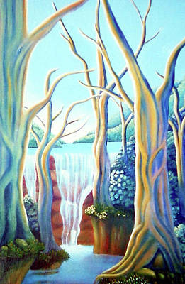 Seacape Painting - Saltwater Falls 2 by Barbara Stirrup