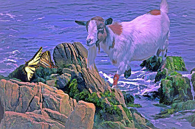 Mixed Media - Saltwater Goat 10  by Lynda Lehmann