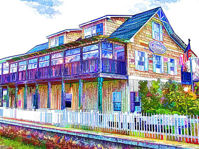 Swansboro Painting - Saltwater Grill Swansboro 1 by Lanjee Chee