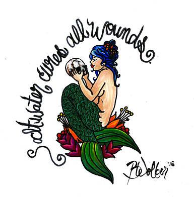 Saltwater Mermaid Art Print
