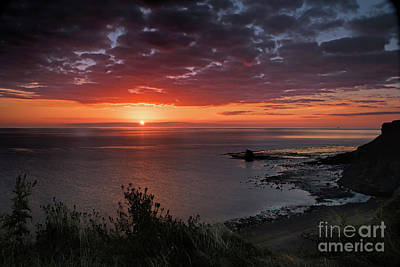 Photograph - Saltwick Bay Sunrise  by David  Hollingworth