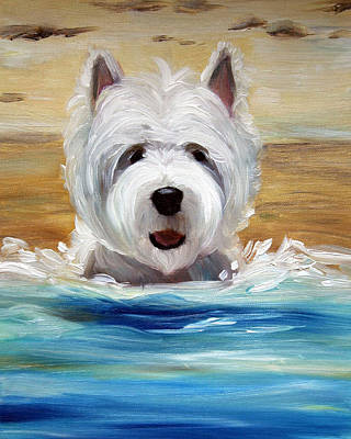 Terrier Painting - Salty Dawg by Mary Sparrow