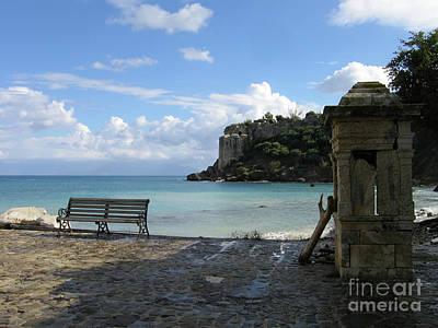 Salty Greek Port In Autumn  Art Print